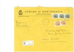 MONTERENZIO - 40050 - PROV. BOLOGNA - R - FORMATO 18X24 - TEMA TOPIC COMUNI D´ITALIA - STORIA POSTALE - Affrancature Meccaniche Rosse (EMA)