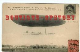 """RARE < DIRIGEABLE """" Zodiac """" Avec Portrait De Mr De La Vaux - Ballon Aérostation Militaire - Dos Scanné - Dirigibili"""