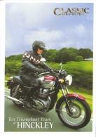 Triumph Bonneville  -  'Ten Triumphant Years At Hinckley'   -  Carte Postale - Motos
