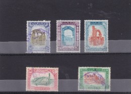 Stamps LIBYA 1965 SC 291-295 KINGDOM DEFINITIVE SET VF USED #19 */* - Libya
