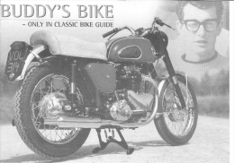 'Buddy's Bike'  -  Buddy Holly And Motorcycle   -  Carte Postale - Motorräder