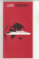 B0960 - LISTA PASSEGGERI LLOYD TRIESTINO NAVE CROCIERA I GRANDI VIAGGI Anni '60? - Carte D'imbarco Di Navi