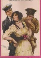 13 / 7 / 37  -  DEUX  HOMMES  UNE  FEMME ( Signé Arthur  Bulchuy - - Unclassified