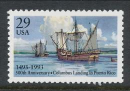 USA 1993 Scott 2805. Columbus' Landing In Puerto Rico, 500th Anniv., MNH ** - Nuevos