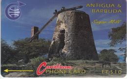 ANTIGUA & BARBUDA(GPT) - Sugar Mill, CN : 6CATA, Tirage 10200, Used - Antigua And Barbuda