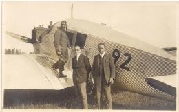 Lausanne-Blécherette - 1922 - Avion Junkers E 13 Et Pilote Paul Wyss - Très Beau - Aviateurs