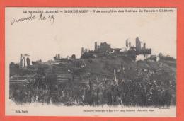 MONDRAGON -->  Vue Complète Des Ruines De L´Ancien Château - France