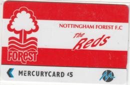 UK(GPT) - Nottingham Forest F.C.(PYF042), Mercury Telecard, CN : 3PFLQ, Tirage %5900, Used - Sport