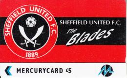 UK(GPT) - Sheffield United F.C.(PYF052), Mercury Telecard, CN : 3PFLU, Tirage %5900, Used - Sport