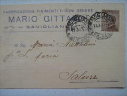SAVIGLIANO CUNEO - FABBRICAZIONE FINIMENTI D'OGNI GENERE MARIO GITTADINI 1927 - Cuneo