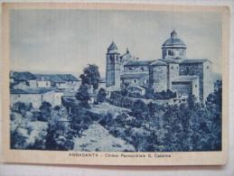 ABBASANTA - CHIESA PARROCCHIALE S.CATERINA 1942 - Oristano