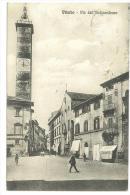 CARTOLINA - VITERBO - VIA DELL'INDIPENDENZA - ANIMATA - VIAGGIATA NEL 1916 - Viterbo