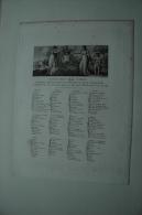 DUCHESSE D´ANGOULEME, Liste Des Dames Fêtes Paris, Eau-forte, Vers 1814, Ref 369 G01 - Estampes & Gravures