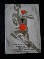 TOKIO 1964  JAPAN   SOUVENIR OLIMPIAD  CARTA GEOGRAFICA  TAPPE FIAMMA OLIMPICA FILATELICO  OLIMPIC COVER FDC OLIMPIQUE - Uniformes Recordatorios & Misc
