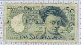 50 Frs Quentin De La Tour, Fayette N° 67/14, état TB/TTB - 50 F 1976-1992 ''Quentin De La Tour''
