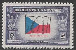 1943 5 Cents Czechoslovakia Mint Never Hinged - Verenigde Staten