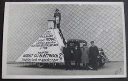 Photo-Carte 1938, Elektrische Centrale Van Gent, Voiture/camionnette Publicitaire ! - Non Classés