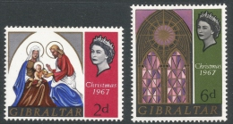 Gibraltar. 1967 Christmas. MH Complete Set - Gibraltar