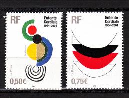 FRANCE / 2004 / Y&T N° 3657/3658 ** : Entente Cordiale (2 TP) - Gomme D'origine Intacte - Unused Stamps