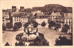 90 BELFORT LA PLACE DE LA REPUBLIQUE ET LE MONUMENT DES TROIS SIEGES - France
