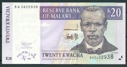 MALAWI 1997 20 KWACHA P38 ALMOST UNC -G - Malawi