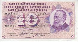 Billet Suisse 10 Francs - 06-01-1977 - Suisse