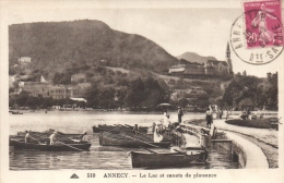 CPA 74 ANNECY LE LAC ET CANOTS DE PLAISANCE - Annecy