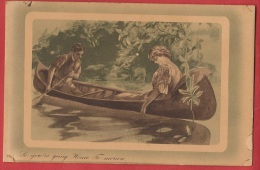 Z0174 Couple Dans Une Barque. Romantisme. Non Circulé. Henderson - Couples