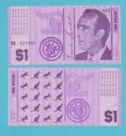 HUTT RIVER PROVINCE  1 DOLLAR 1.970  PLANCHA/SC/UNC   ¡¡¡MUY RARO!!!  DL-9609 - Billets