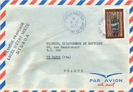 1972  Lettre Avion  Pour La France   Lutte Contre L'alcoolisme Yv 92 Uturoa-Raiatea - Polynésie Française