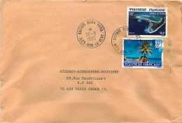 1985  Lettre Avion  Pour La France   Atoll De Tupai  Yv 192, Tuamotu  Yv 263 - Briefe U. Dokumente