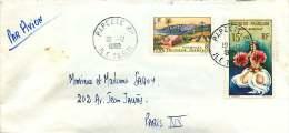 1965  Lettre Avion  Pour La France   Danseuse YV PA 7, Marquises Yv 33 - Polynésie Française