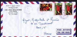 1974  Lettre Pour La France Journée Des Mille Fleurs Yv 83 X2, 84 Oblitéré: Uturoa-Raitea - Polynésie Française