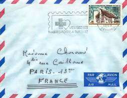 1969  Lettre Avion Pour La France Chapelle De Ronchamp Yv 392 Seul - Covers & Documents