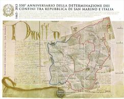ITALIA REPUBBLICA - UNIF. Nc - 2013 550^ ANNIV.  CONFINI ITALIA - SAN MARINO   - FOGLIETTO NUOVO (MINT)** - 6. 1946-.. Repubblica