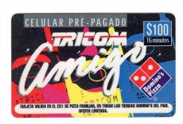 REPUBLIQUE DOMINICAINE CARAIBES PREPAYEE 100$ DOMINO´S PIZZA - Dominicaine
