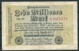 GERMANY 1923 10 MILLIONEN MARK P106 -G - [ 3] 1918-1933 : Weimar Republic