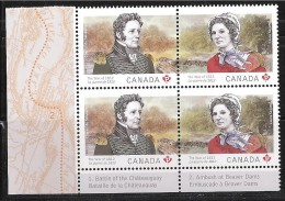 CANADA, 2013, 2651a, THE WAR Of 1812, LAURA SECORD & CHARLES De SALABERRY,   QUERRE   MNH - Blocs-feuillets