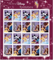 U.S. 4025-28  **  DISNEY  ROMANCE - Sheets