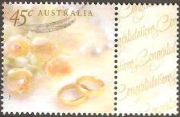 AUSTRALIA - USED 1999 45c Greetings- Wedding Rings - With Tab - Gebruikt
