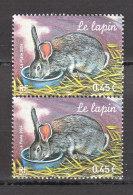 """FRANCE / 2004 / Y&T N° 3662 ** : """"Animaux De La Ferme"""" (Lapin) X 2 En Paire - Nuevos"""