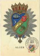 Carte MAXIMUM  - N° 1195 - Blason Alger - Oblitérée Alger (2) - Cartes-Maximum