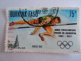 Burkina Faso 1987 Sports Sport Saut En Hauteur Hoogspringen Yv 743 O - Burkina Faso (1984-...)