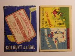 Belgium 2 Old  Matchbox Labels - Boites D'allumettes - Etiquettes