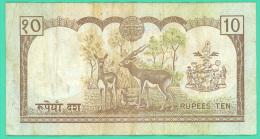 Népal - 10 Rupees -  Ten - TTB - Nepal