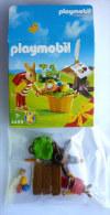 PLAYMOBIL DE P�QUES BOITE 4459 Lapin avec tronc pupitre
