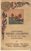 Calendario - Brero Giuseppe - Savigliano - Anno 1940 - Mis. Cm 11.5x7 - Calendriers