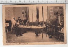Fribourg - Pensionnat Jeanne D'Arc, Leçon De Peinture (1913) - FR Fribourg