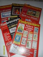 LOT De 5 Catalogues ( TIMBROSCOPIES) T/ BON ETAT - Tijdschriften: Abonnementen