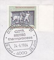 1984 COVER (card) Dusseldorf METEC THERMPROCESS Thermo HEAT ENGINEERING EVENT Pmk COVER GERMANY  Stamps Energy - Sciences